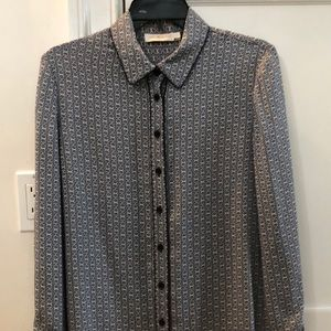 Tory burch silk shirt size small